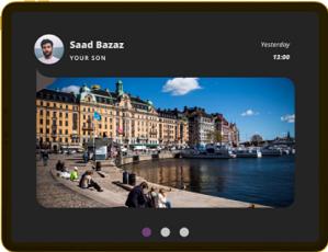 Skicka digitala vykort som bildmeddelande till äldre